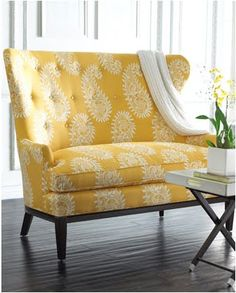 Yellow Settee- fabric for the mauve couch I will one day have??