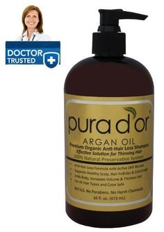Pura d'or Premium Organic Anti-Hair Loss Shampoo (Gold Label), 16 Fluid Ounce by pura d'or [Beauty] -- This is an Amazon Affiliate link. Click image to review more details.