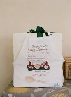 Great Bridal shower gift... recipe for a happy Marriage
