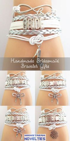 The perfect Bride to Bridesmaid gift for your wedding party. Handmade bracelets in your wedding colors! Don't miss our Sales event going on now.