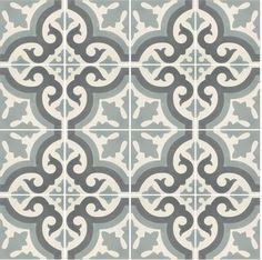 Sementtilaatta, kuvioitu Marokkolainen, harmaa - Domus Classica verkkokaupasta