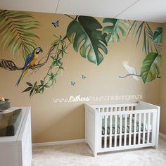 Jungle Baby Room, Jungle Theme Nursery, Safari Room, Jungle Bedroom, Baby Nursery Decor, Room Wall Painting, Kids Room Paint, Nursery Paintings, Dinosaur Room Decor