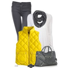 """""""Yellow & Gray"""" by michelled2711 on Polyvore"""