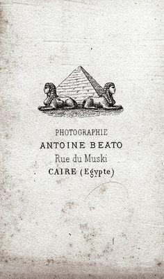 Antonio Beato- CDV back