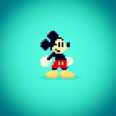 #MikeVDesign | Disney 8-bit Characters Vol. 1
