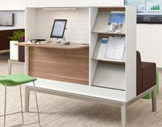 Regard: Nurture by Steelcase- Workspace on one side, meeting/ lounging area on the other.