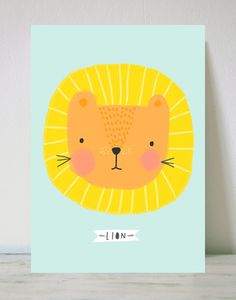 Lámina lion Gorgeous print by Aless Baylis of This is Gold Lion Illustration, Character Illustration, Cute Lion, Kids Prints, Cute Characters, Surface Pattern Design, Nursery Art, Art Lessons, Print Patterns