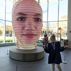 Interactive LED Sculpture Projects Visitors Faces