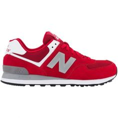 New Balance 574 are on their way to become the unexpected success this season. They presented in classic red colour way. The materials used on this sneaker are suede and mesh. A great shoe for everyday!