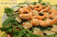 insalata di gamberi con rucola e grana ricetta insalata estiva