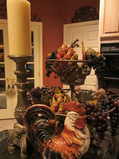 Embellishments By Slr Prepping The Kitchen For Spring Italian Decortuscan Decorrooster