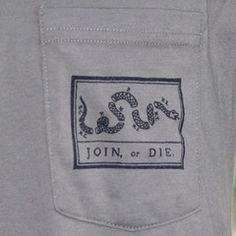 Join or Die Pocket Tee Shirt (Army Green)