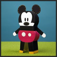 Mickey Mouse Pook-a-Looz Free Paper Toy Download