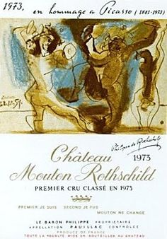 Château Mouton-Rothschild 1973 by Pablo Picasso