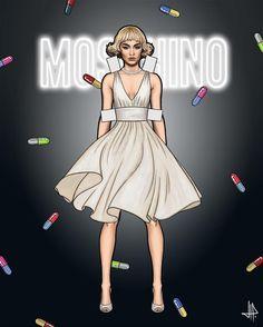 Illustration.Files: Moschino S/S 2017 Fashion Illustration by Juan Cruz Prats