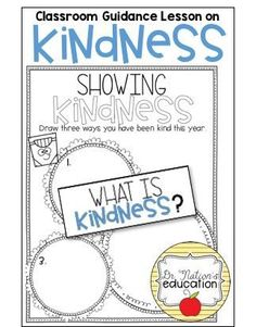 A classroom guidance lesson on the character education trait of kindness. Use in the regular classroom or as a part of the school counseling program for through graders. What Is Kindness, Guidance Lessons, Character Education, School Counselor, Counseling, Classroom, Teaching, Corner, Social Stories