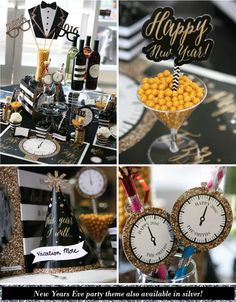 Fun New Years Eve Party Ideas:  Party Hats, Photo Booth Props, Decorations and Party Favors
