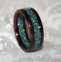 Cocobolo Rosewood and Corian Ring by MnM Woodworks, via Flickr