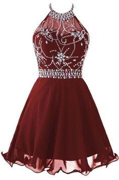 Wine Red Ocassion Dresses, Backless Short Prom Dress,Burgundy