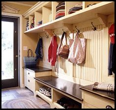 Lucky is the home-owner who has a mud room! #mud_room #mudroom #home #house #organisation