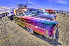 Iridescent Chevy by Atomicpixal Custom Paint Jobs, Custom Cars, Paint Jobs On Cars, Auto Retro, Hot Rides, Us Cars, Car Painting, Car Wrap, Amazing Cars