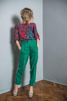 Colourful Outfits, Colorful Fashion, Moda Boho, Casual Outfits, Fashion Outfits, Fitted Skirt, Summer Skirts, Dresscode, Vintage Skirt