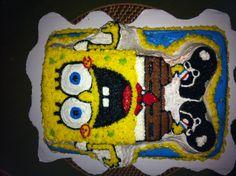My first #Spongebobcake!! Using a Wilton pan