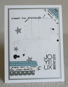 Emotions Cards, Masculine Cards, Happy Planner, Diy Cards, Scrapbook Cards, Punch Board, Washi, Cardmaking, Stampin Up