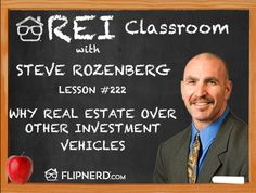 Steve Rozenberg enlightens us over why real estate as an investment has beneficial differences when compared to other types of investments.