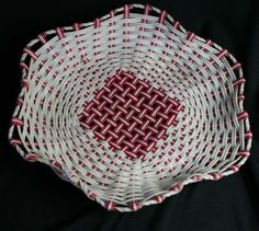 Other Collectable Tableware Red And White, Tray, Basket, Retro, Tableware, Vintage, Dinnerware, Tablewares, Trays