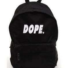 Dope Backpack ($23) ❤ liked on Polyvore featuring bags, backpacks, black backpack, backpacks bags, black bag, black rucksack and rucksack bag