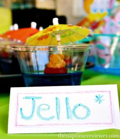super cute and adorable Teddy bears swimming in blue Jello. The NapTime Reviewer: DIY Pool Party Ideas