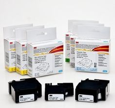 #3M #Portable Labeler Refill Cartridges are available in a variety of materials, including heat shrink, for a variety of surfaces and environments. The label cart...