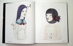 Juxtapoz Dark Arts book / illustration by Irana Douer