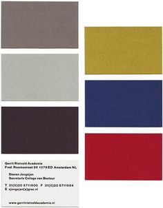 rietveld colour palette - Google Search