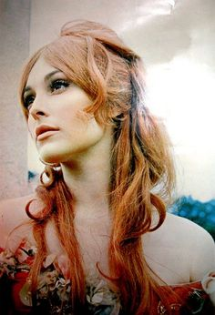 Sharon Tate, I love this shade of red on her.     Im going to do a more strawberry blonde version on my self soon!