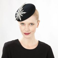 Jane Taylor Millinery AW 2014 Shooting Star- Felt Cocktail Hat with Crystal