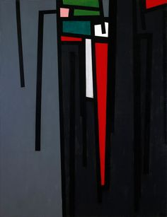 KARL BENJAMIN | Tape Grid #19, 1961; oil on canvas;  42 x 32 inches
