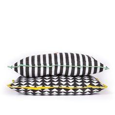 Mono Stripe Cushion ❤ liked on Polyvore featuring home, home decor, throw pillows, stripe throw pillows, striped throw pillows and striped accent pillows
