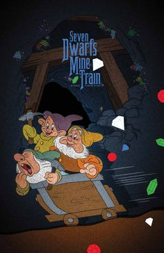 Celebrate Seven Dwarfs Mine Train Attraction in New Fantasyland With a Special Poster