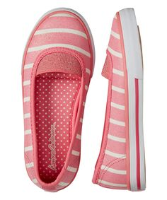 This Lily Pink Stripe Mimmi II Slip-On Sneaker by Hanna Andersson is perfect! #zulilyfinds