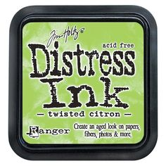 "Tim Holtz Distress Ink Pad-Twisted Citron 2.25""x2.25"", Twisted Citron"