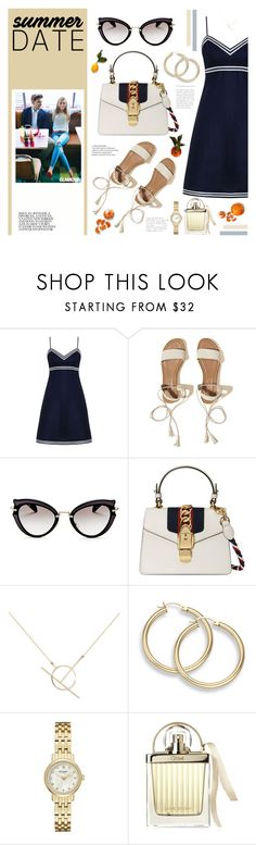 """""""Date Outfit"""" by karolinapl ❤ liked on Polyvore featuring Zimmermann, Hollister Co., Miu Miu, Gucci, A Weathered Penny, Kate Spade and Chloé"""