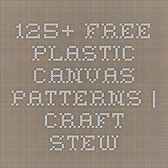 125+ Free Plastic Canvas Patterns   Craft Stew
