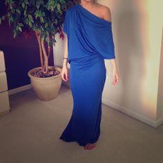 Beautiful blue off shoulder maxi Gorgeous blue maxi dress of shoulder never worn Dresses Maxi