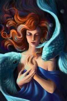 """Pisces:  """"#Pisces,"""" by MyleneC, at deviantART."""