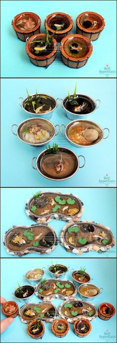 Misc 1:12 Koi Ponds and Containers by Bon-AppetEats on deviantART... so cool a koi pond for my pocket