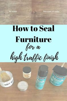 Knowing how to seal painted or unpainted furniture is key in maintaining a piece for a high traffic surface. I've shared a few examples with products. Sealing Chalk Paint, Chalk Paint Table, Chalk Paint Kitchen, Black Chalk Paint, How To Chalk Paint, Sealing Wood, Stripping Furniture, Furniture Wax, Chalk Paint Furniture