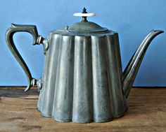 Antique pewter tea pot by R Richardson of Sheffield by nancyplage, Antique Pewter, Sheffield, Tea Time, Tea Pots, Sketch, Shop My, Antiques, House, Ideas