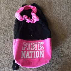 VS gym bag Mesh gym bag. Has a couple stains you can see if the pictures. Victoria's Secret Bags